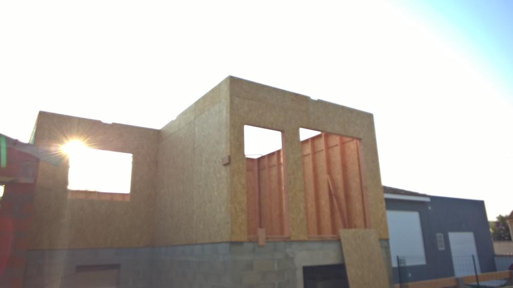 Maison ossature bois à enduire